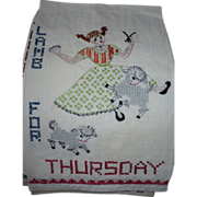 Thursday Lamb Embroidered Towel