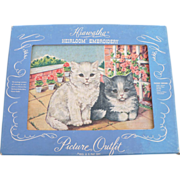 Embroidery Kit Cats