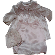 Pink Satin Baby Set 3 Piece