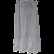 Victorian Eyelet Slip Petticoat