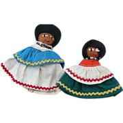 Pair Seminole Dolls
