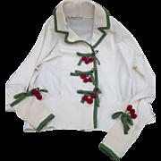 Cardigan Sweater Cherries