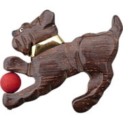 Wood Dog Pin with Ball