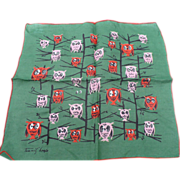 Tammis Keefe Owl Handkerchief