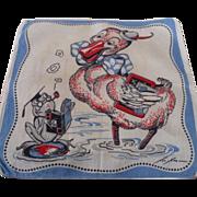 Tom Lamb Duck & Frog Handkerchief