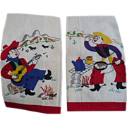 Embroidered Applique Cowboy Towels