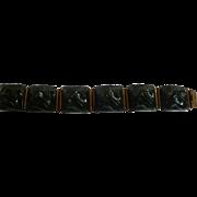 Bakelite Carved Link Bracelet