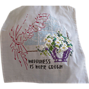 Happiness Embroidered Picture