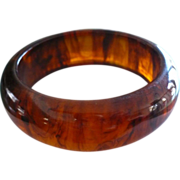 Root Beer Bakelite Bracelet
