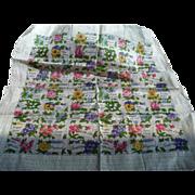 Floral Greetings Handkerchief