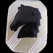 Bakelite Lucite Horse Pin