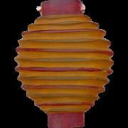 Carved Bakelite Lantern Pendant