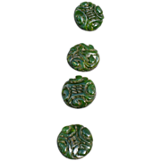Carved Bakelite Buttons