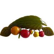 Bakelite Fruit Pin