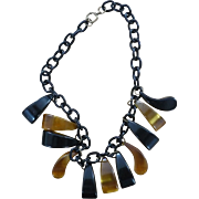 Bakelite Dangle Necklace