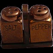 Tiny Brass Salt & Pepper Set