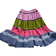 Colorful Mid Century Circle Skirt