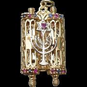 14K Torah Pendant