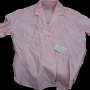1960's Pink Silk Blouse