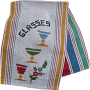 Embroidered Glasses Towel