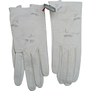 Aris Floral Leather Gloves