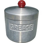Aluminum Grease Jar