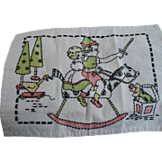 Embroidered Children Playing