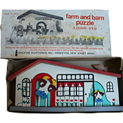 Creative Playthings Farm & Barn Puzzle