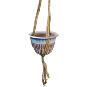 1970's Pottery Hanging Planter