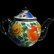 Czech Floral Teapot