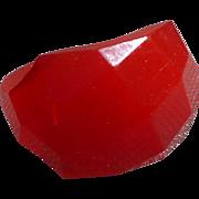 Red Bakelite Facet Ring