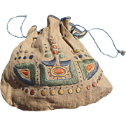 Arts Crafts Embroidered Bag