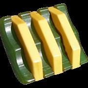 Bakelite Green Laminate Button