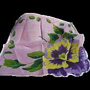 Pansy  Flower Handkerchief