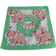 Children's Elephant Handkerchief