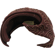 Beaded Brown Hat