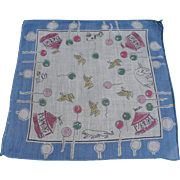 Carousel Child's Handkerchief