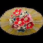 Applejuice Bakelite Floral Pin