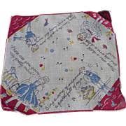 Nursery Rhyme Child's Handkerchief