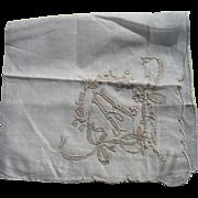 Initial A Handkerchief