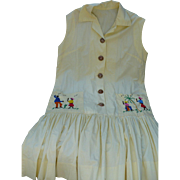 Jamaican Embroidered Dress