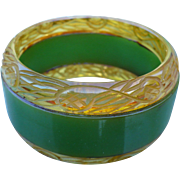Applejuice Green Bakelite Bracelet