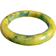 Yellow Green Bakelite Bracelet