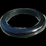 Black Bakelite Bracelet