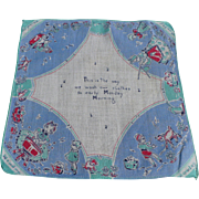 Monday Child's Handkerchief