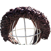 Brown Straw Knit Hat