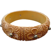 Floral Bakelite Bracelet