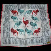Tammis Keefe Ostrich Handkerchief
