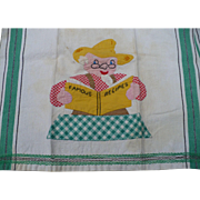 Farmer Recipe Applique Towel