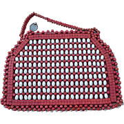Czech Wood Beaded Purse